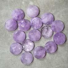 12MM FACETED ROUND CABOCHON CAPE AMETHYST (8PCS/BAG)