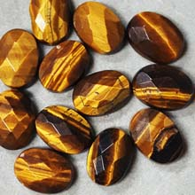 13X18MM FACETED OVAL CABOCHON TIGER EYE(6PCS/BAG)