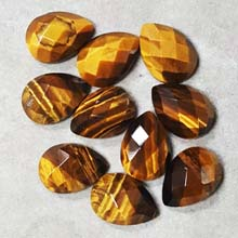 13X18MM FACETED PEAR CABOCHON TIGER EYE(8PCS/BAG)