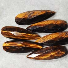 13X40MM FACETED PEAR CABOCHON TIGER EYE(4PCS/BAG)