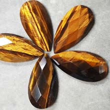 18X35MM FACETED PEAR CABOCHON TIGER EYE(4PCS/BAG)
