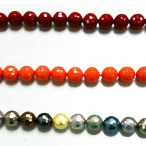 SHELL PEARL FACETED ROUND
