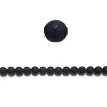 MATTE BLACK ONYX 08MM FACETED