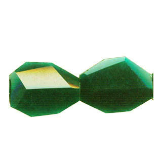 DYED JADE FACETED FLAT NUGGET 35X45MM DARK GREEN