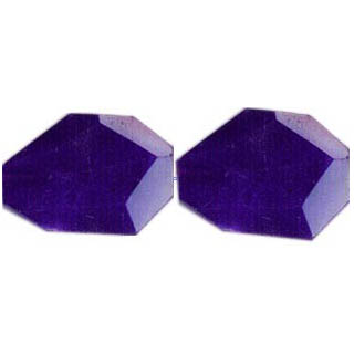 DYED JADE FACETED FLAT NUGGET 35X45MM DEEP PURPLE