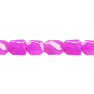 DYED JADE D. FACETED WAVE RECTANGLE 10X14MM FUCHSIA
