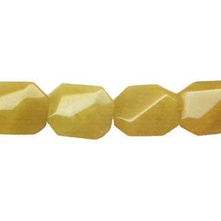 DYED JADE D. FACETED WAVE RECTANGLE 16X19MM MODE BEIGE