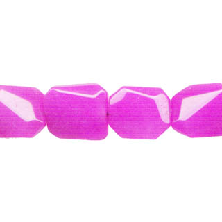 DYED JADE D. FACETED WAVE RECTANGLE 16X19MM FUCHSIA