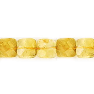 CITRINE FACETED SQUARE 08MM