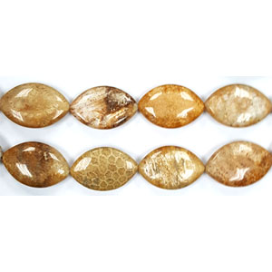FOSSIL CORAL FLAT OVAL 20X30MM