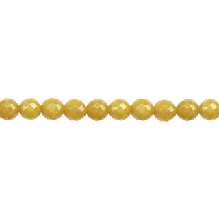 DYED JADE FACETED 04MM MODE BEIGE