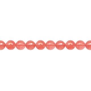 CHERRY QUARTZ 06MM FACETED ROUND
