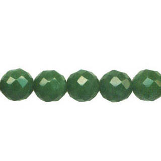 DYED JADE FACETED 10MM DARK GREEN