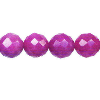 DYED JADE FACETED 12MM LIGHT PLUM