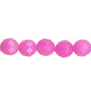 DYED JADE FACETED 12MM FUCHSIA