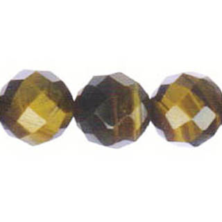 TIGER EYE FACETED ROUND 14MM