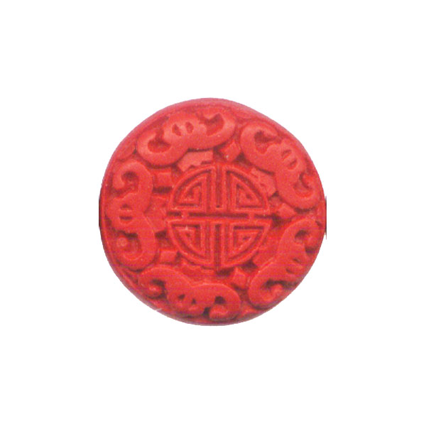 CINNABAR COIN 28MM RED