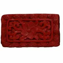 CINNABAR RECTANGLE 20X35MM RED