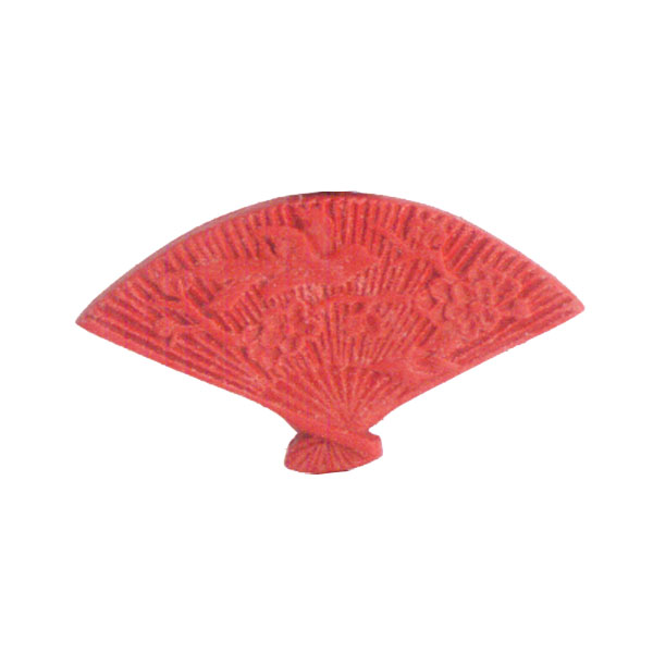 CINNABAR FAN 21X40MM RED