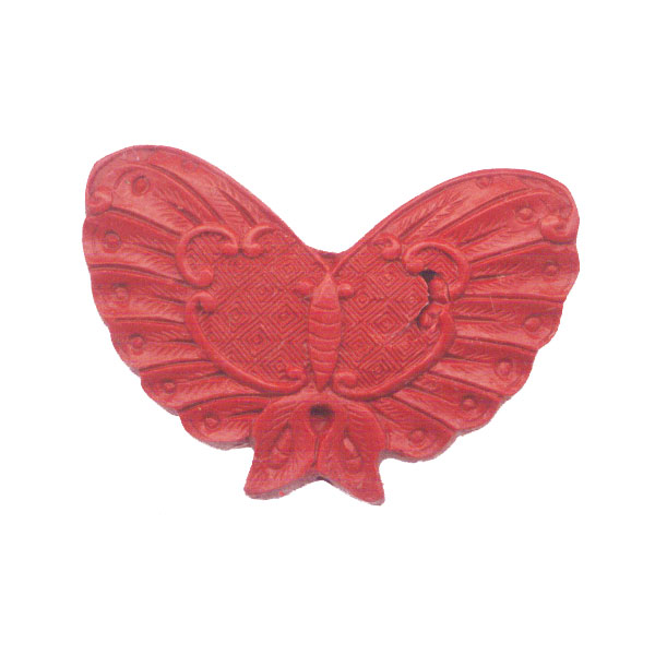 CINNABAR BUTTERFLY 41X60MM RED