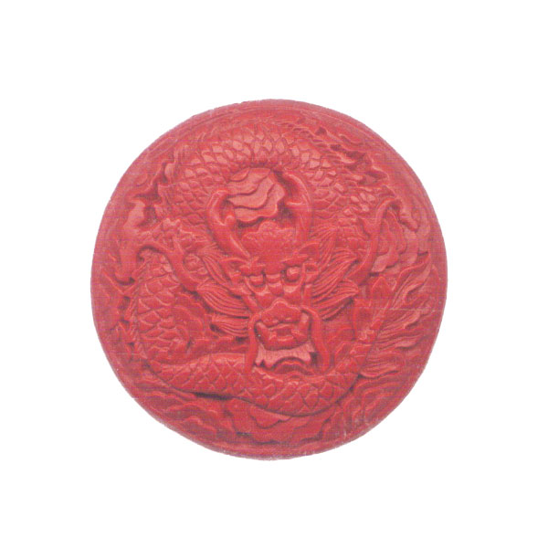 CINNABAR COIN 51MM RED