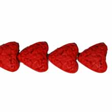 CINNABAR HEART 15MM RED