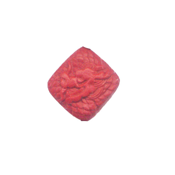 CINNABAR SQUARE 15MM RED