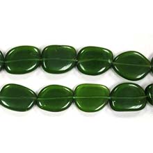 DARK GREEN QUARTZ FREEFORM 15X20MM