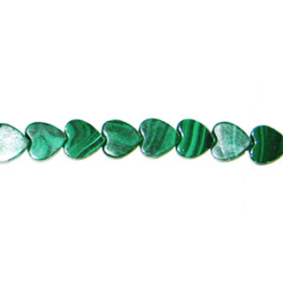 MALACHITE FLAT HEART 10MM