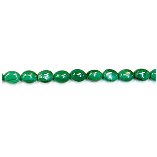 MALACHITE FLAT OVAL 08X10MM
