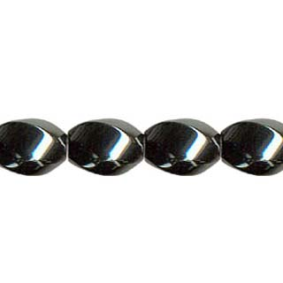 MAGNETIC HEMATITE 6 FACE SWIRL  8X12MM