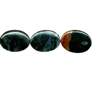 MULTI AGATE FLAT OVAL 22X30MM