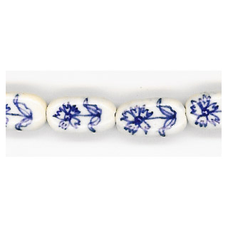PORCELAIN FLAT OVAL 9X17MM