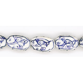 PORCELAIN FLAT OVAL 10X17MM