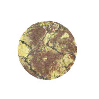 FLAT COIN 30X40MM YELLOW TURQUOISE