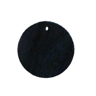 FLAT COIN 35MM BLACK STONE