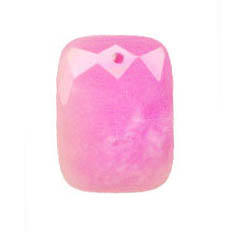 FACETED RECTANGLE 30X40MM DYED JADE LIGHT FUSIAL