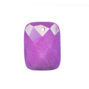 FACETED RECTANGLE 30X40MM DYED JADE PURPLE
