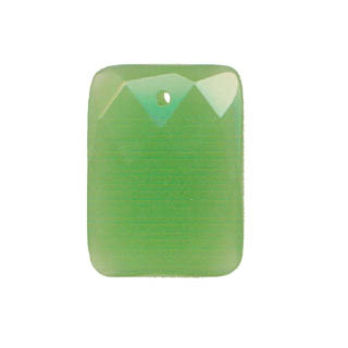 FACETED RECTANGLE 30X40MM APPLE GREEN QUARTZ