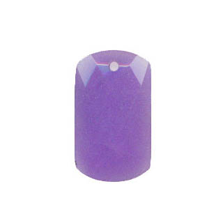 FACETED RECTANGLE 28X48MM DYED JADE PURPLE