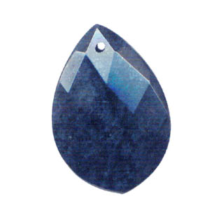 FACETED PEAR 35X50MM DUMORITE