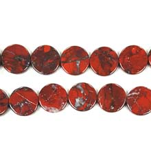 POPPY JASPER COIN 16MM