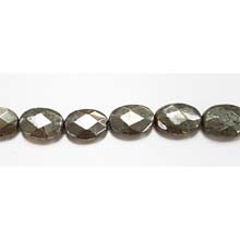 PYRITE FACETED FLAT OVAL 10X14MM