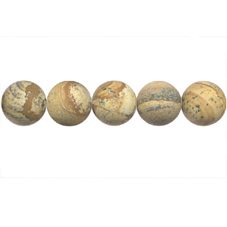 FROSTED PICTURE JASPER 10MM