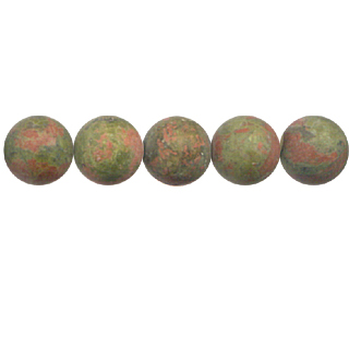 FROSTED UNAKITE 10MM