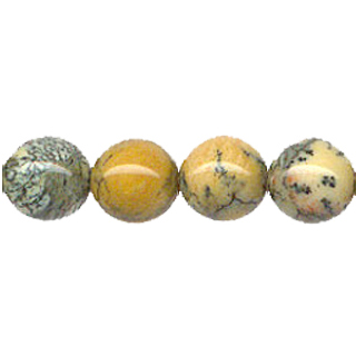 YELLOW MOSS AGATE 12MM