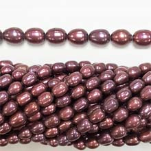 FRESHWATER PEARL RICE 4X7-4X10MM BURGUNDY