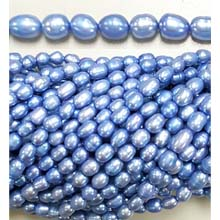 FRESHWATER PEARL RICE 5X7-5X10MM LIGHT BLUE (10 strs)