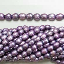 FRESHWATER PEARL RICE 4X7-4X10MM  LIGHT PURPLE (10 strs)