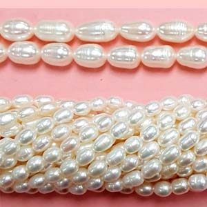 FRESHWATER PEARL RICE 5.5-6MM WHITE